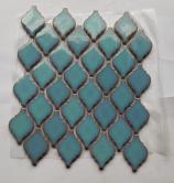 Mosaics Lantern Safi H13 Turquoisen glossy